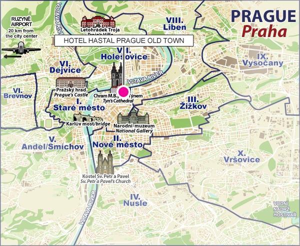 Location hastal old town hotel prague for Prague location